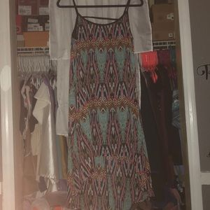 Rue21 tribal print high low dress